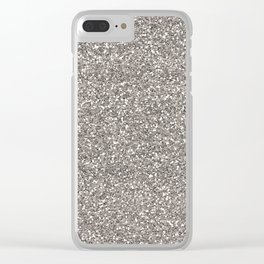 Silver Glitter I Clear iPhone Case
