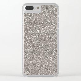 Silver Glitter I Clear iPhone Case