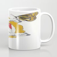 brand new Mugs featuring Brand New by Sarah Hinds