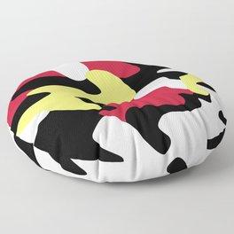 UNIQUE BLACK AND YELLOW CAMO Floor Pillow