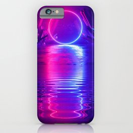 Reflections of a Neon Portal iPhone Case