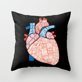 Anatomical Heart - For Cardiac Nurse Cardiologists Throw Pillow