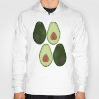 avocado Hoodies featuring Avocado by SarahBoltonIllustration