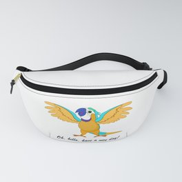 Parrot saying Hi! Fanny Pack