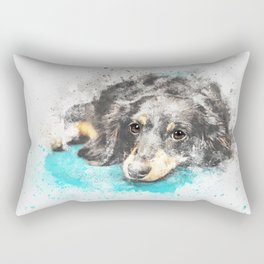dog dachshund design Rectangular Pillow