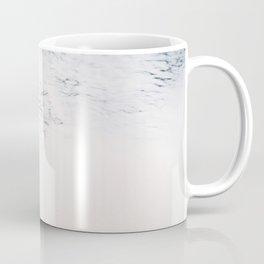 Sea foam - white and blue minimalistic photo of the ocean water Coffee Mug