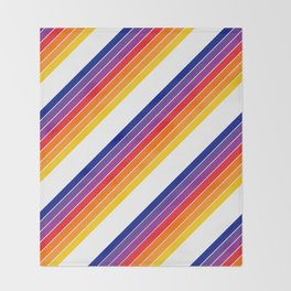 Rainbow Candy Stripe Throw Blanket