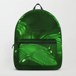 Shiny green Backpack