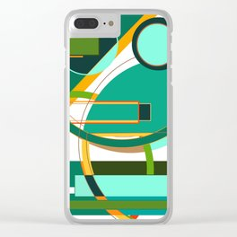 D is for Deco: Abstract Art Deco Font Typography Clear iPhone Case