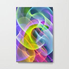 Mellow Rainbow Speed Swirls Metal Print