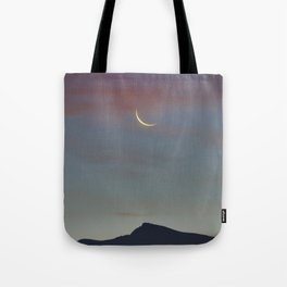 Moon Sunrise And Veleta Mountain. 3,482 meters. Tote Bag