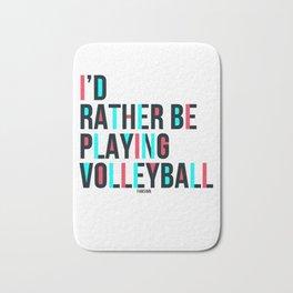 Volleyball Sport fun saying gift Bath Mat