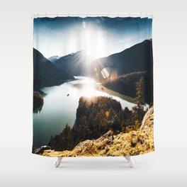 lake at washington state Shower Curtain