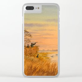 Duck Hunters Calling Clear iPhone Case