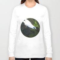 bali Long Sleeve T-shirts featuring Bali Myna by Design Windmill