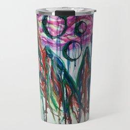 Abstract Mountain Milkyway Acrylic and Watercolor Painting Travel Mug
