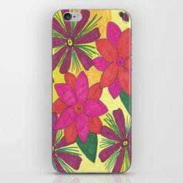 Bohemian Floral Garden Print iPhone Skin