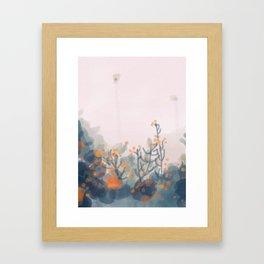 Orange Blooms Framed Art Print