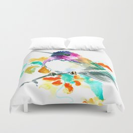 Cute Little Hummingbird Duvet Cover