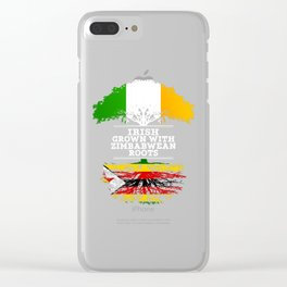Irish Grown With Zimbabwean Roots Clear iPhone Case