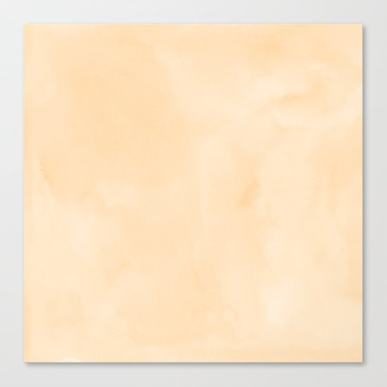 Simply Orange Sherbet Watercolor Canvas Print