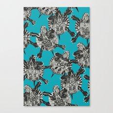 turtle party surf blue Canvas Print