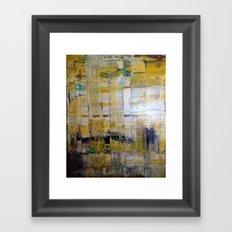 YELLOW SCRAPE Framed Art Print