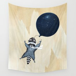 Raccoon Balloon Wall Tapestry