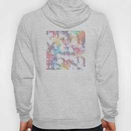 Blurred Rainbow Clouds: Faux Marble Pattern Hoody