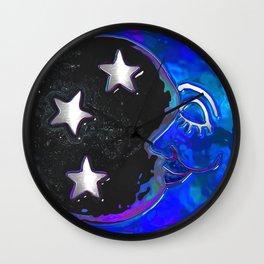 Celestial Moments Bohemian Folk Art Wall Clock