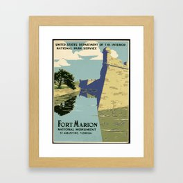 Fort Marion National Monument, St. Augustine, Florida Framed Art Print