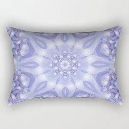 Light Blue, Lavender & White Floral Mandala Rectangular Pillow
