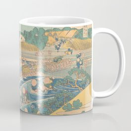 Fuji Seen from Kanaya on the Tōkaidō, Series Thirty-six Views of Mount Fuji by Katsushika Hokusai Coffee Mug