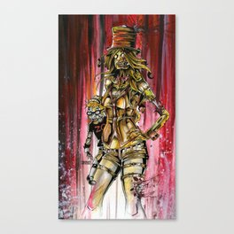 Zombie Ventriloquist Girl Canvas Print