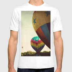 Take me Higher MEDIUM White Mens Fitted Tee
