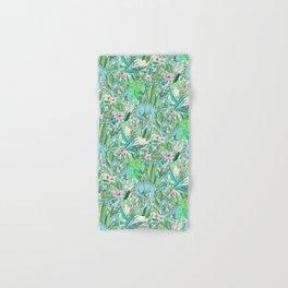 Improbable Botanical with Dinosaurs - soft pastels Hand & Bath Towel