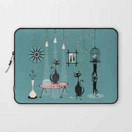 Mid Century Kitty Mischief - ©studioxtine Laptop Sleeve