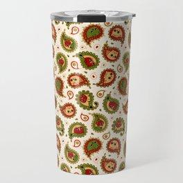 Cat Paisley - Christmas - v2 Travel Mug