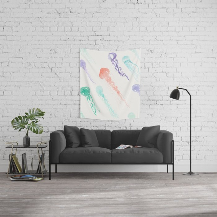 Jellyfish festival Wall Tapestry