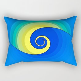 Wave in the Sunset Abstract Rectangular Pillow