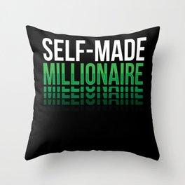 Self Made Millionaire Rich Throw Pillow