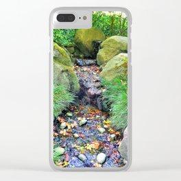Autumn Stream Clear iPhone Case