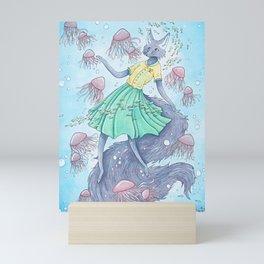 Swimming with the Jellies Mini Art Print