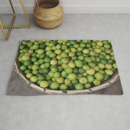 Lemon green in basket on market #society6 Rug