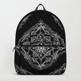 Mandala Doodle Pattern in Black & White Backpack