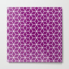 Winter 2018 Color: Orchid Blood in Cubes Metal Print
