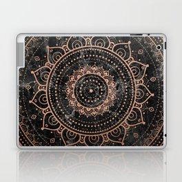 Mandala - rose gold and black marble Laptop & iPad Skin