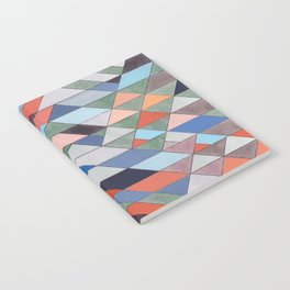 Triangle Pattern No. 7 Diagonals Notebook