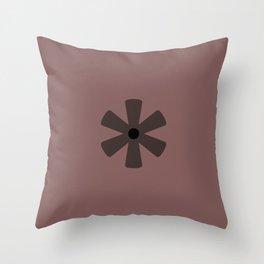 Asterisk Hole (Calibri) Throw Pillow