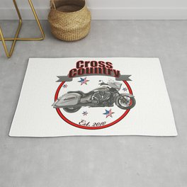 Victory Cross Country U.S.A. Star Motorcycle Rug